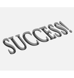 Success text design vector