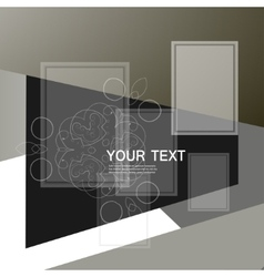 abstract triangle and square vector image