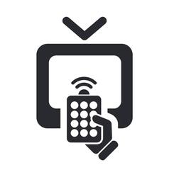 Remote tv icon vector
