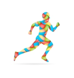 Abstract creative concept image of running vector