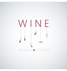 Wine concept art design background vector