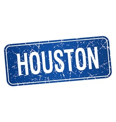 Houston blue stamp isolated on white background vector
