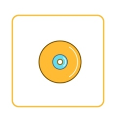 Disk icon simple style vector