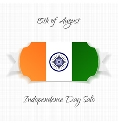 India independence day paper label vector