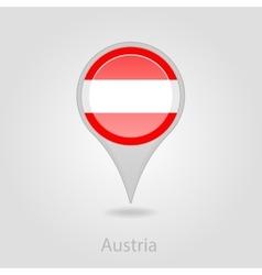 Austria flag pin map icon vector