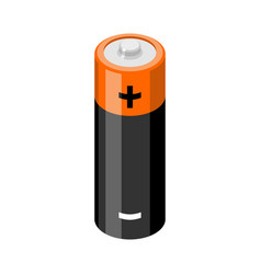 Battery isolated accumulator on white background vector
