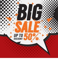 Big sale 50 percent vector
