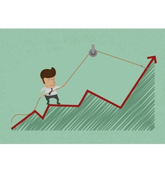 BusinessmanGraph6 vector image vector image