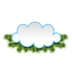 christmas background with a cloud vector image vector image