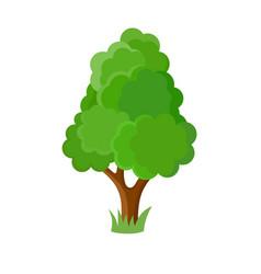 Decorative cartoon tree vector