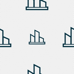 Diagram icon sign Seamless pattern with geometric vector image