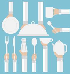 Flat modern design concept cookware vector