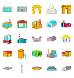 Form icons set cartoon style vector