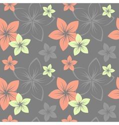 frangipani pattern grey vector image vector image