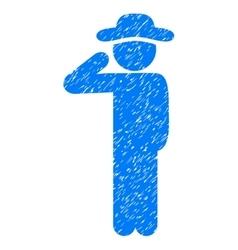 Gentleman salute grainy texture icon vector