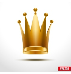 Gold classic royal crown of queen or princess vector