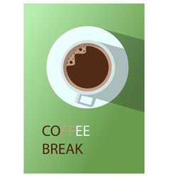 Hot coffee cup on table background it s vector