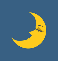 Moon with face vector