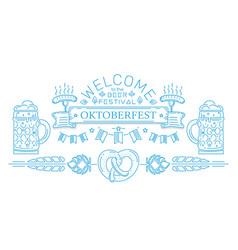 oktoberfest line logo design vector image vector image
