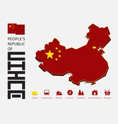 People republic of china map vector