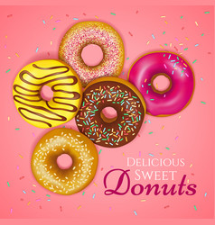 Realistic donuts vector