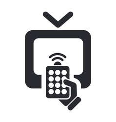 remote tv icon vector image