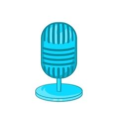 Retro microphone icon cartoon style vector image vector image