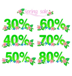 Sale discount set with percents vector image