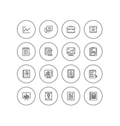 simple business and finance isolated icon set vector image vector image