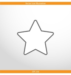 star web flat icon vector image vector image