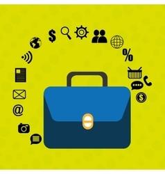 Suitcase portfolio buy web vector