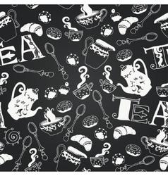 Sweets chalkboard seamless pattern vector
