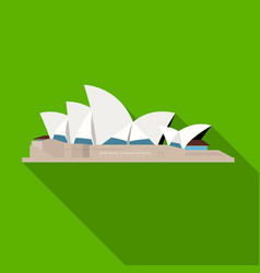 sydney opera house icon in flat style isolated on vector image