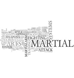 What truely is a martial art text word cloud vector