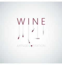 wine concept art design background vector image vector image