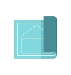 Architectural design of house icon flat style vector