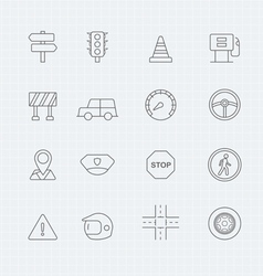 traffic thin line symbol icon vector image