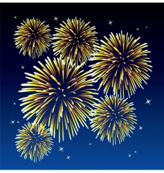 Yellow fireworks vector