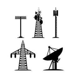 Communication Constructions Set vector image