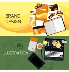 Brand and web design vector