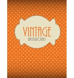 Retro vintage background template vector
