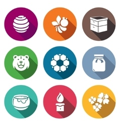 Apiary icons set vector