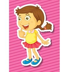 Little girl with ponytail vector