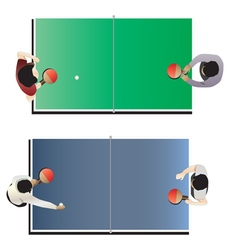 Game room  table tennis top view vector