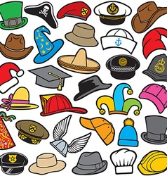 Hat pattern seamless vector image
