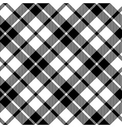 Cornish tartan diagonal fabric texture black and vector