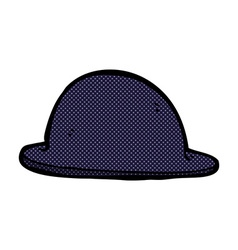 Comic cartoon old bowler hat vector