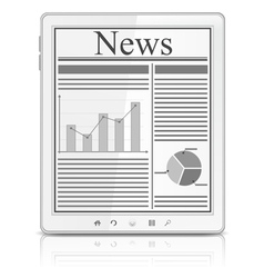 News in tablet pc vector