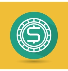 Symbol of currency green isolated icon design vector