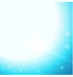 Background design with snowflakes in sky vector